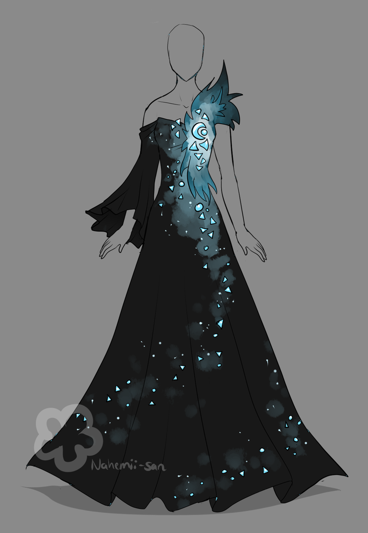 Crystal dress auction closed by nahemii san on deviantart for Space pattern clothing