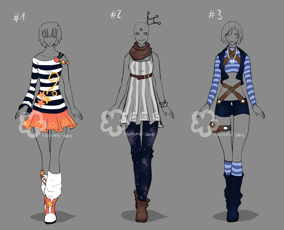 Outfit Contest Entries 1 By Nahemii San On Deviantart