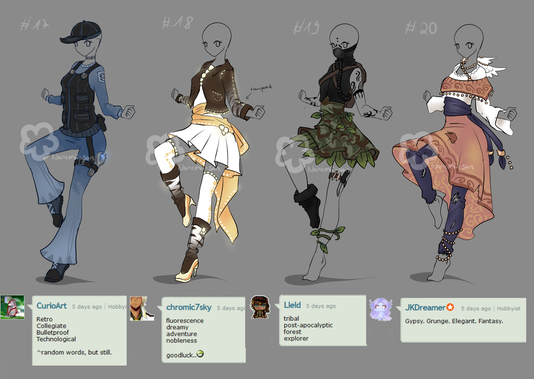 Character Design Challenge Themes : Words outfit challenge by nahemii san on deviantart