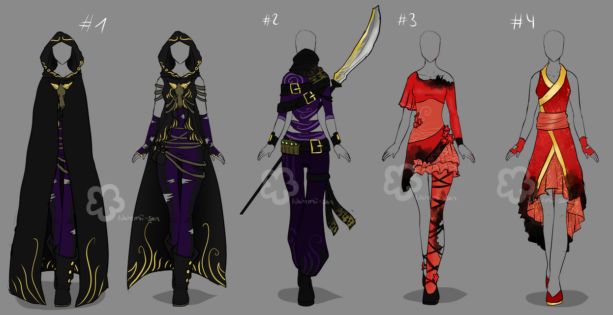 Custom Outfits #22 by Nahemii-san on DeviantArt
