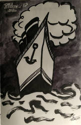 Inktober Day 25- Ship- Bateau