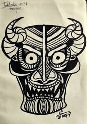 Inktober Day 31- Mask- Masque