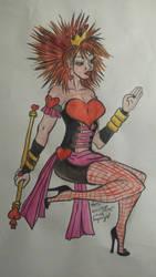 queen of heart , pin up, magical girl