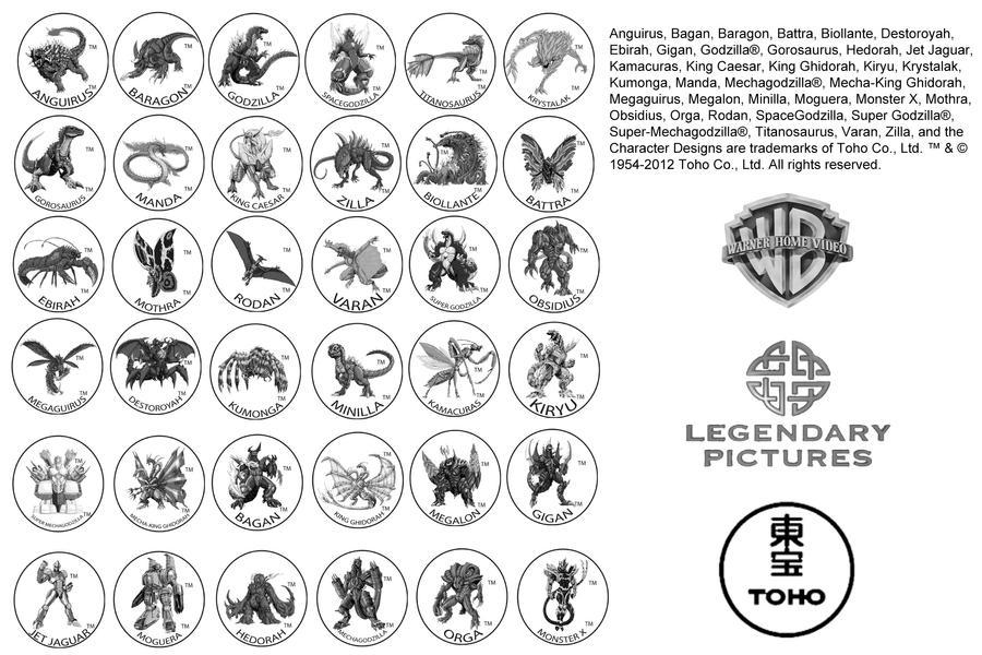 Godzilla Neo Trademark Logos