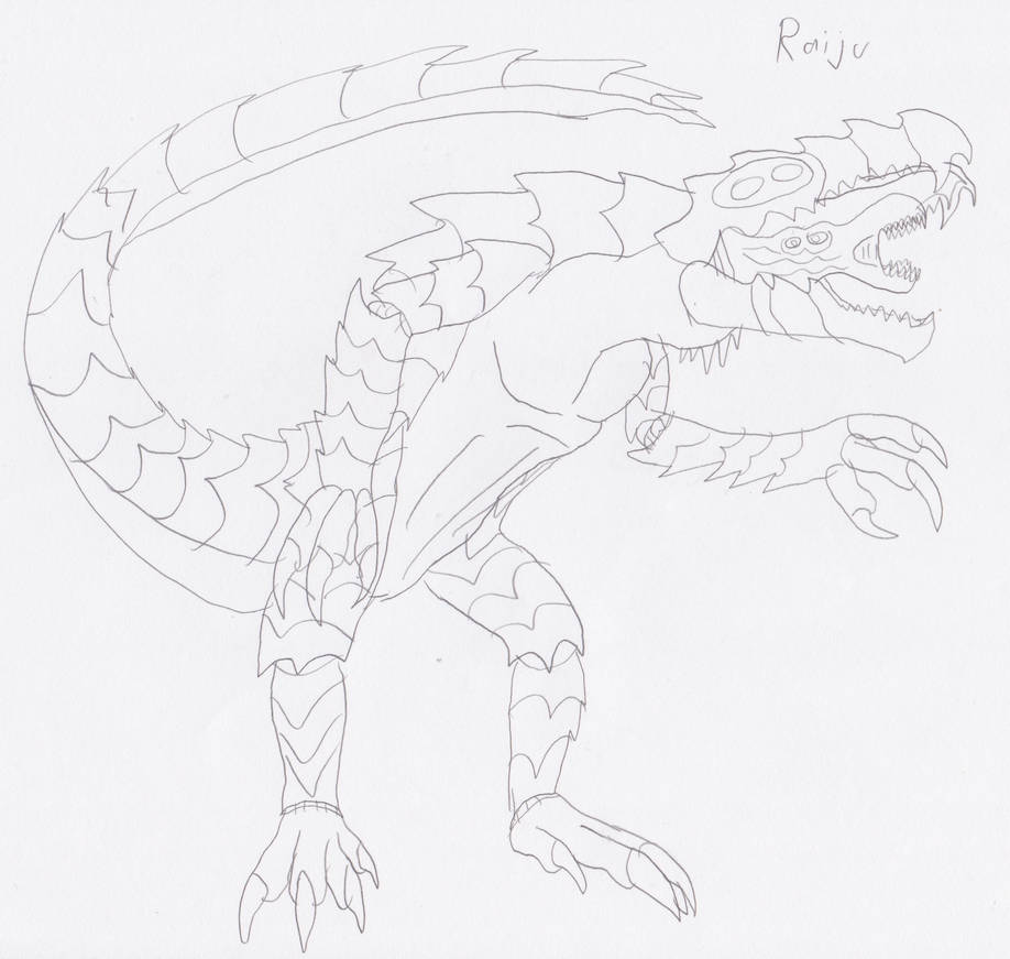 Raiju By Daizua123 On Deviantart Its body is composed of lightning and with the form of a white and blue wolf or dog. raiju by daizua123 on deviantart