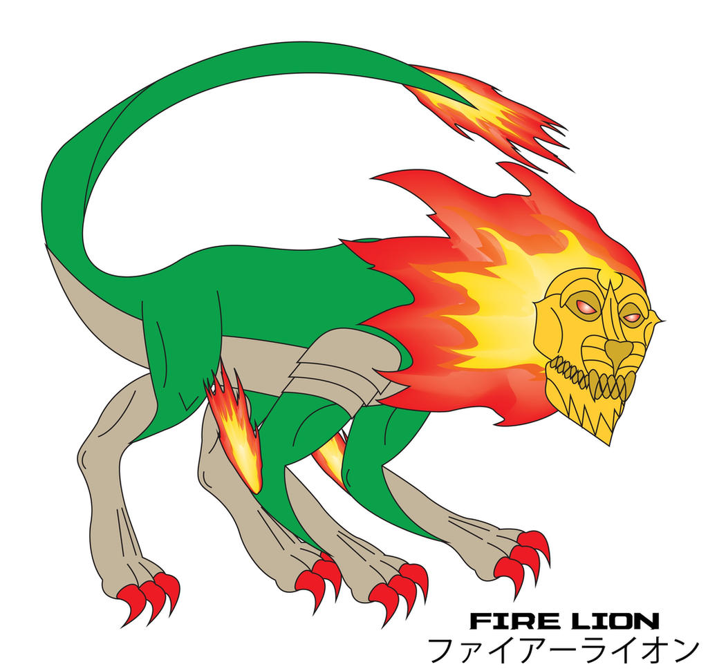 Kaiju Awakened - FIRE LION by Daizua123