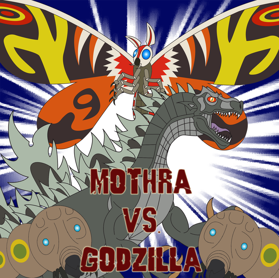 Mothra vs. Godzilla by Daizua123
