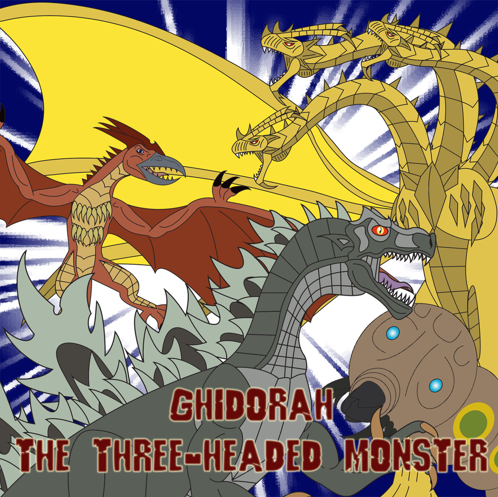 Ghidorah, the Three-Headed Monster by Daizua123
