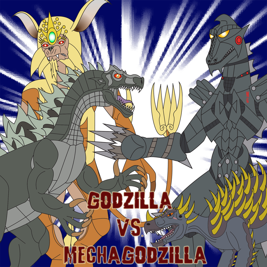 Godzilla vs. Mechagodzilla by Daizua123