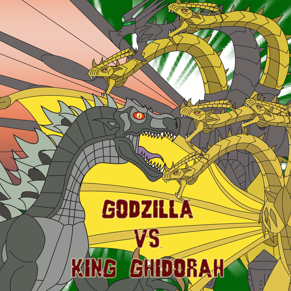 Godzilla vs. King Ghidorah by Daizua123