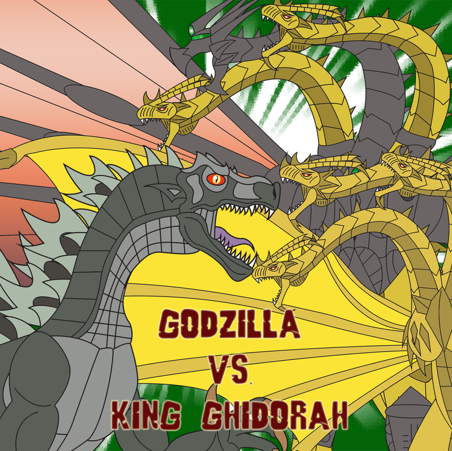 Godzilla vs. King Ghidorah by Daizua123