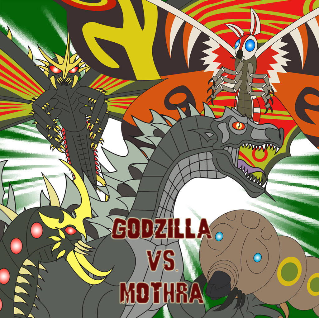 Godzilla vs. Mothra by Daizua123