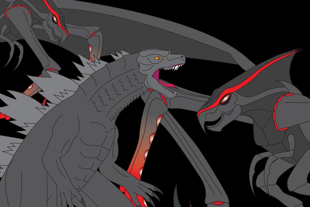 Godzilla vs. MUTO (Revised) by Daizua123 on DeviantArt