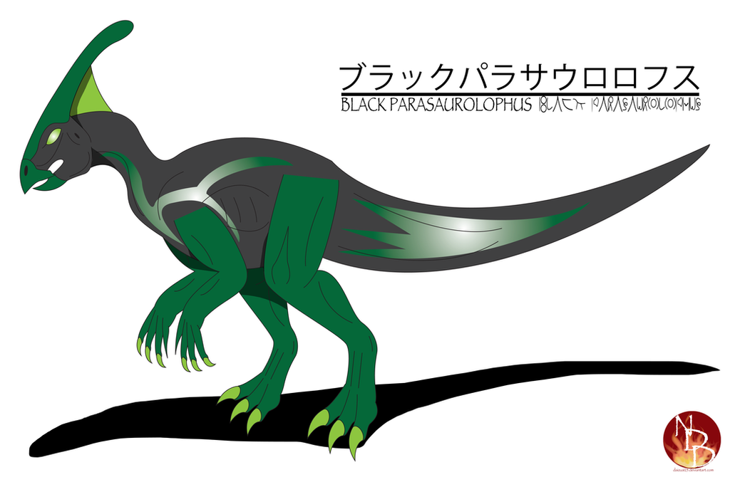 Black Parasaurolophus By Daizua123 On DeviantArt