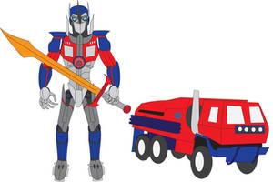 Escalation Optimus Prime (Revised) by Daizua123