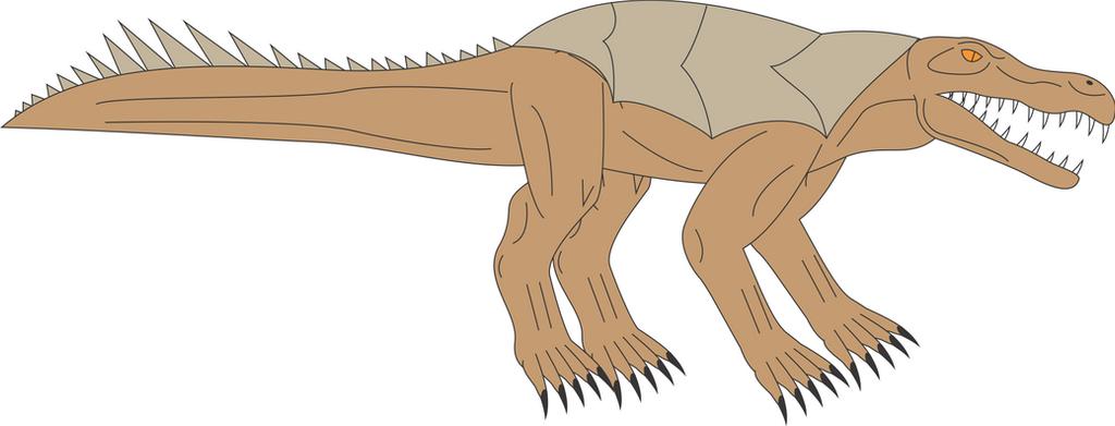Prehistoric World - Armadillosuchus by Daizua123