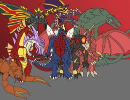 Kaiju - Mutants by Daizua123