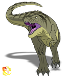 Speckles the Tarbosaurus