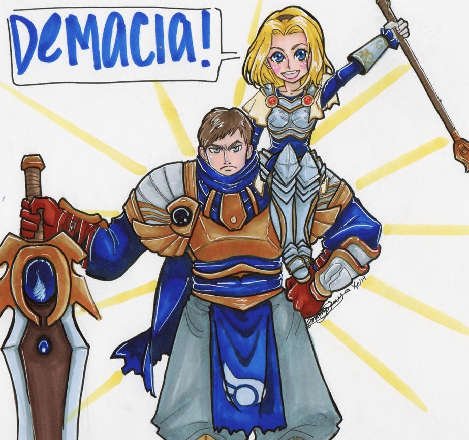 lux and garen by mori1001 d74bycq - Garen Champion Spotlight