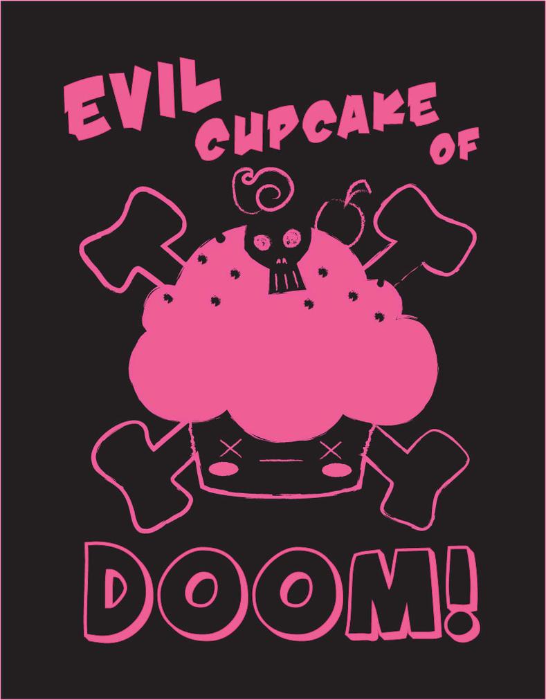 Cute Evil Cupcake