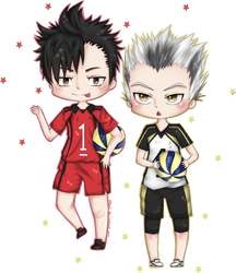 Kuroo and Bokuto :: Haikyuu!! Chibi's by Mikoti