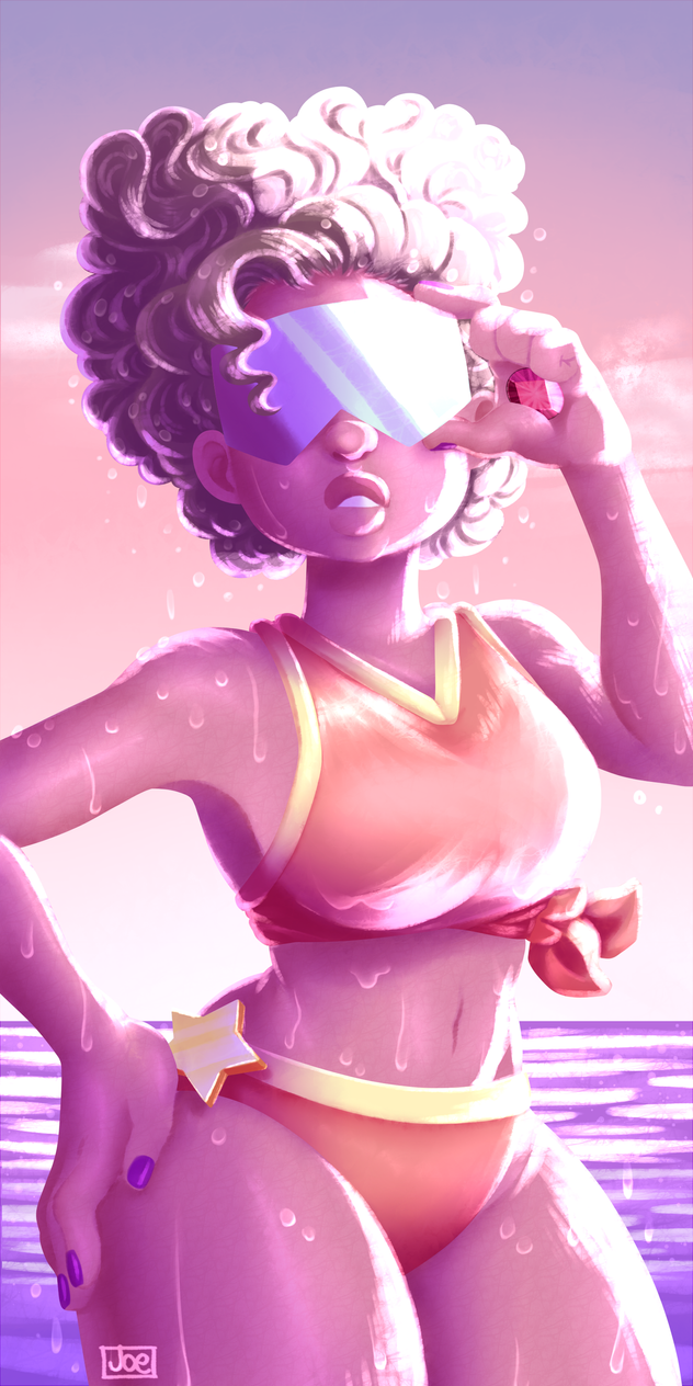 Hell yeah! A little practice of water on body and lights!  Enjoy!~ Garnet - Steven Universe