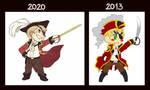 APH- Chibi Pirate Iggy (Redraw 2020) by PYGMY-JOE