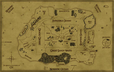 Map of Oz (Tolkien Style) by WillGtl