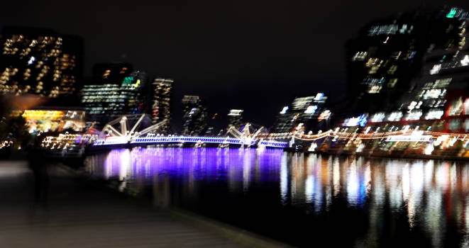 Melbourne Lights - Night On The River
