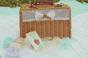 Rattan Suitcase for Birthday Gift Packaging by whocaresme