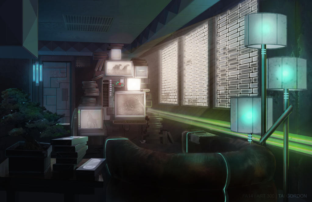 blade runner interior by arsonanthemkj on deviantart. Black Bedroom Furniture Sets. Home Design Ideas