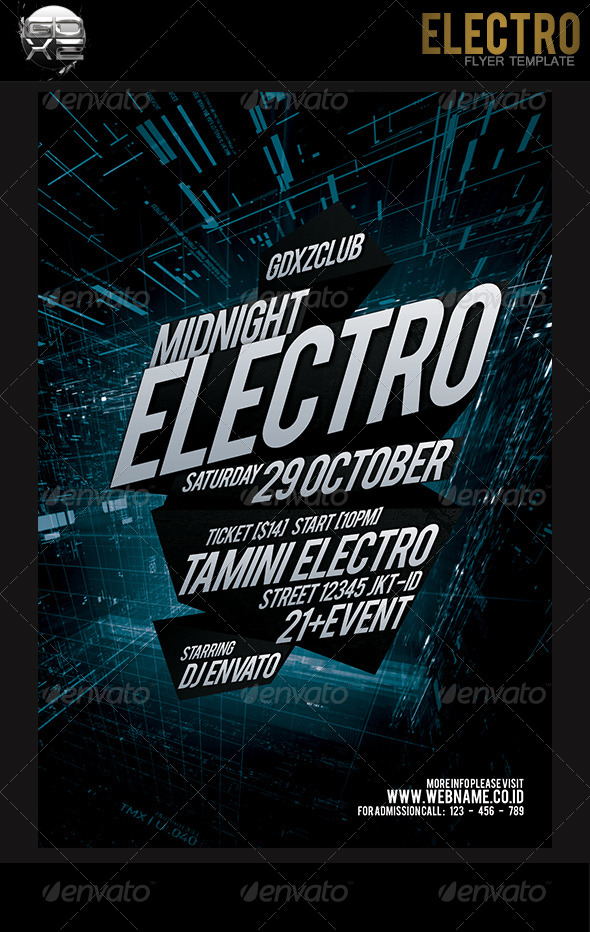 Electro Flyer Template By Prassetyo On Deviantart