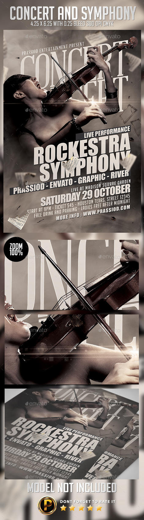 Concert And Symphony Flyer Template by prassetyo