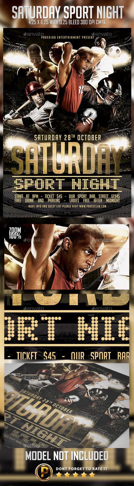 Saturday Sport Night Flyer Template by prassetyo