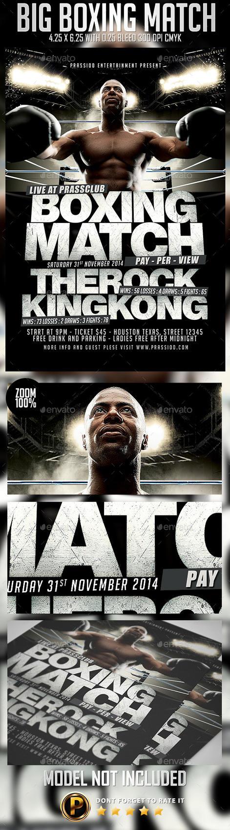 Big Boxing Match Flyer Template by prassetyo