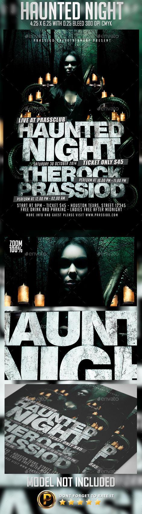 Haunted Night Flyer Template by prassetyo