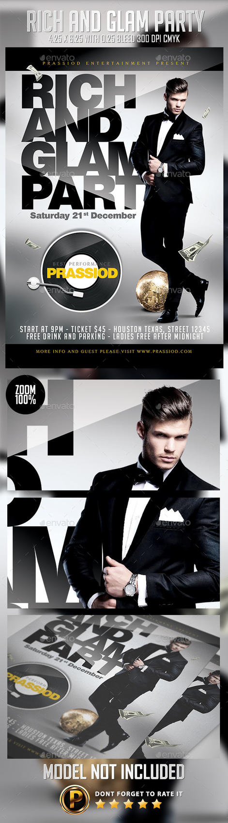 Rich And Glam Party Flyer Template by prassetyo