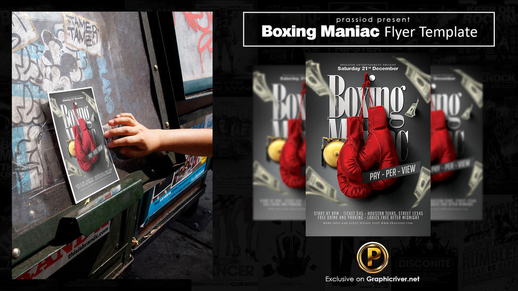 Boxing Maniac Flyer Template By Prassetyo On Deviantart