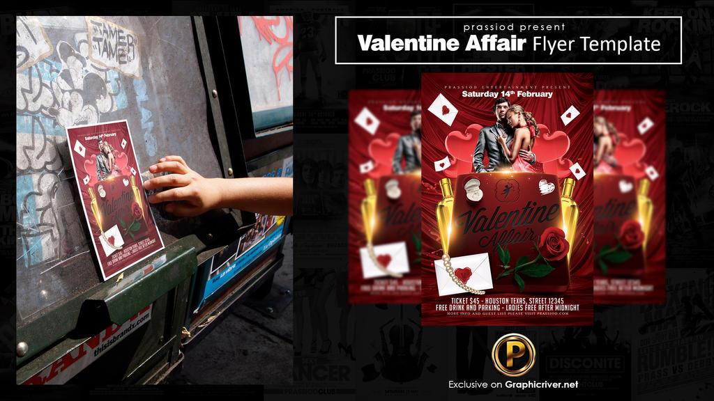 Valentine Affair Flyer Template by prassetyo