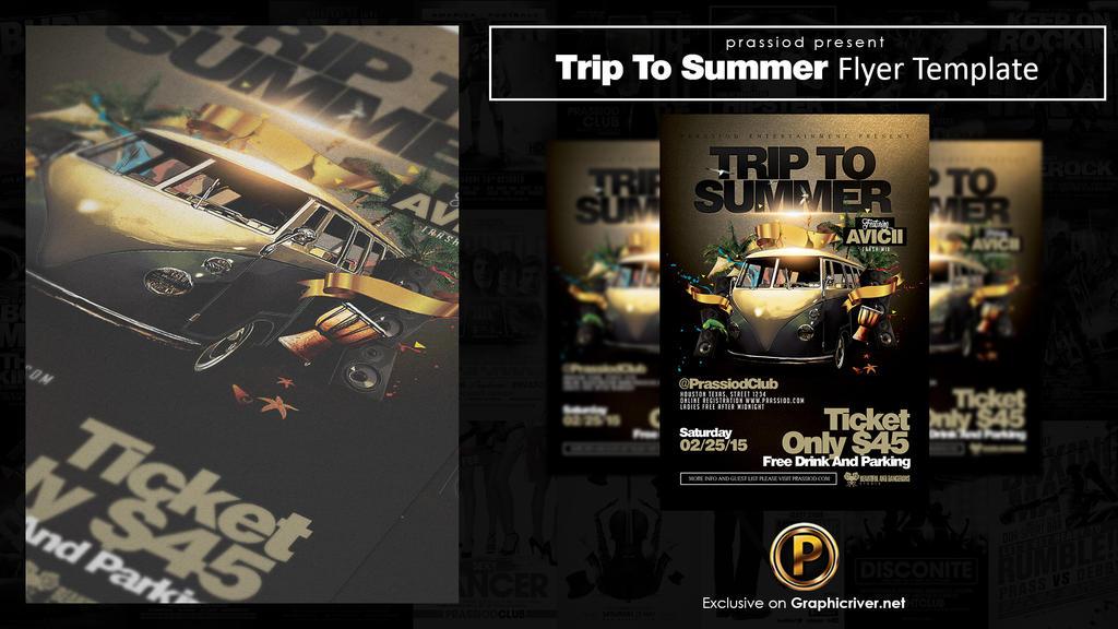 Trip To Summer Flyer Template by prassetyo
