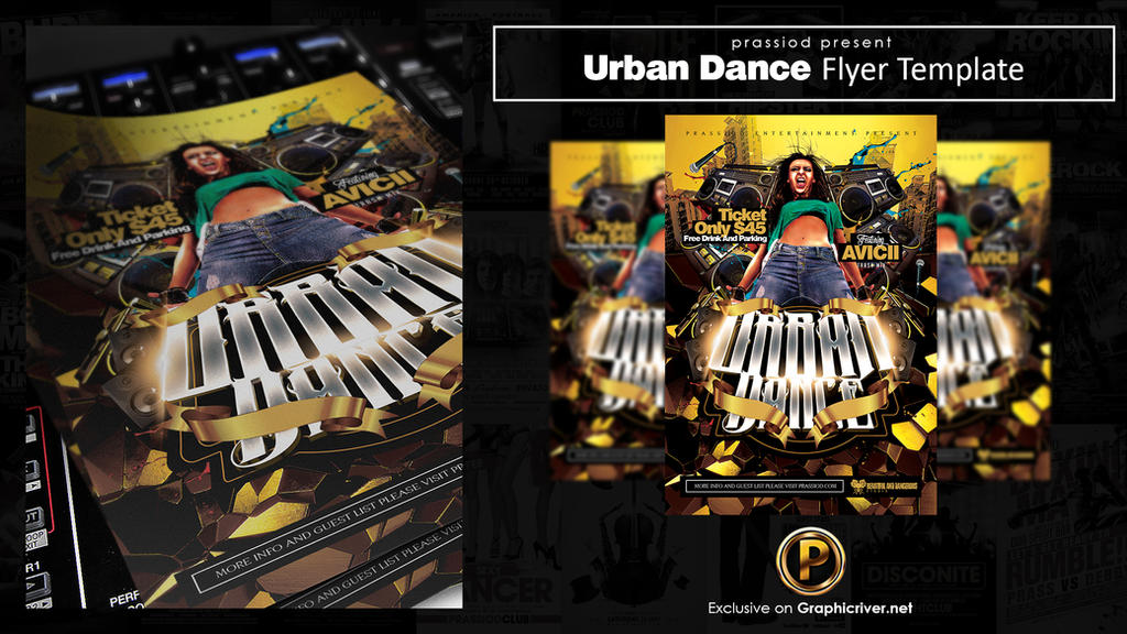 Urban Dance Flyer Template by prassetyo