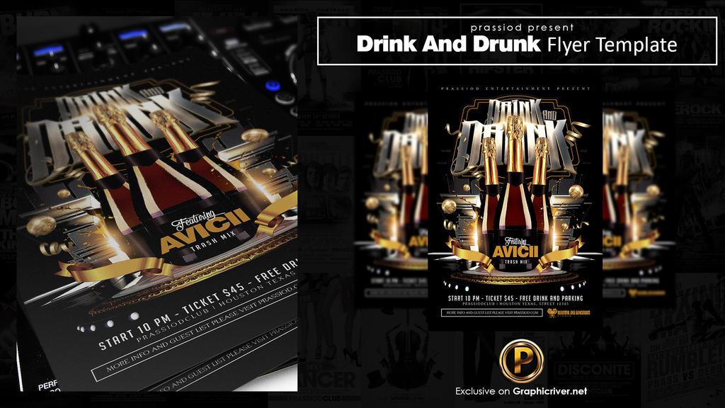 Drink And Drunk Flyer Template by prassetyo