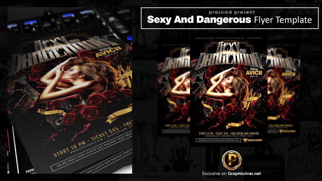 Sexy And Dangerous Flyer Template by prassetyo