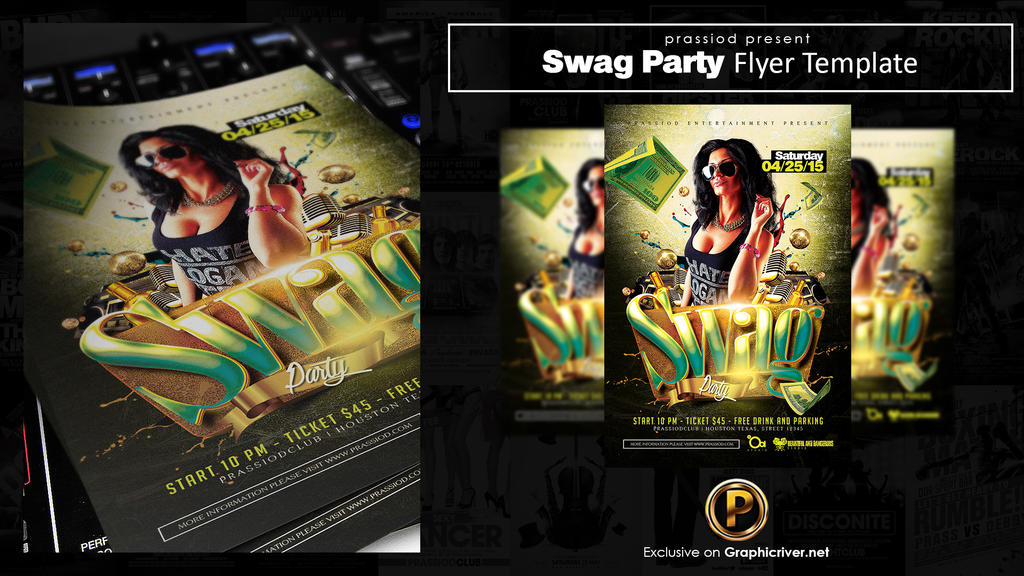 Swag Party Flyer Template by prassetyo