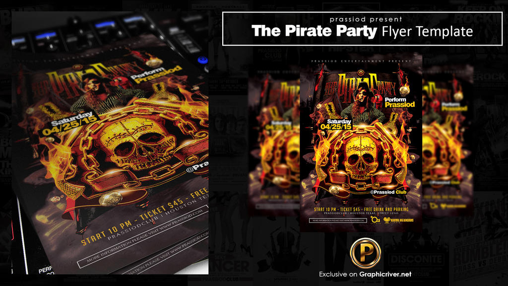 The Pirate Party Flyer Template by prassetyo