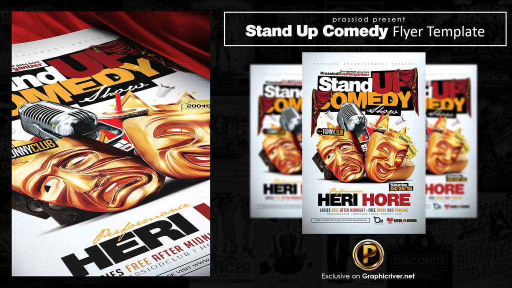 Stand Up Comedy Flyer Template By Prassetyo On Deviantart