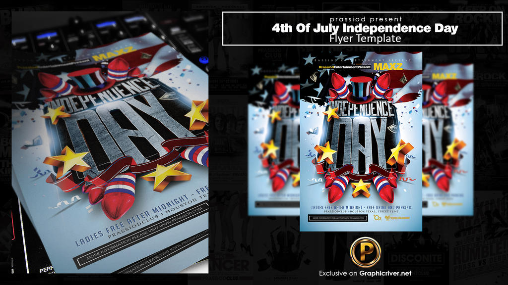 4th Of July Independence Day Flyer Template by prassetyo