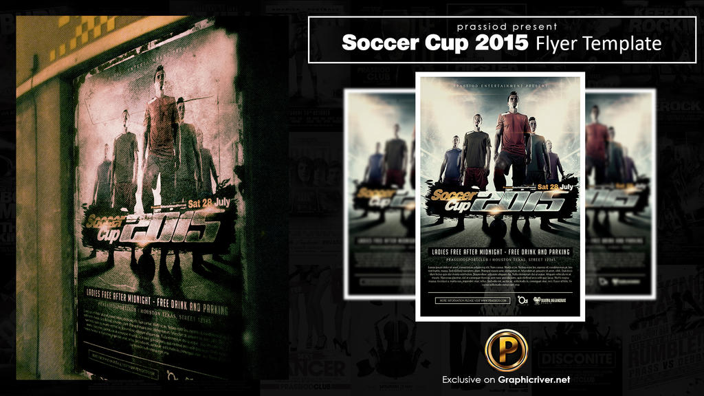 Soccer Cup 2015 Flyer Template by prassetyo