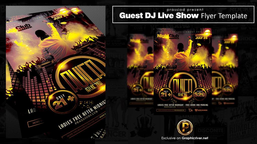 Guest DJ Live Show Flyer Template by prassetyo