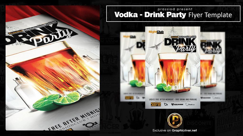 Vodka Drink Party Flyer Template by prassetyo